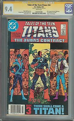 Tales Of The Teen Titans #44 Ss Cgc 9.4 1St App Nightwing Jericho Auto Perez