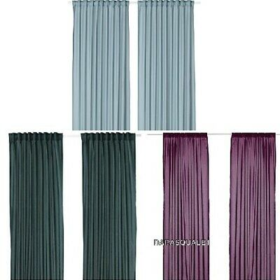 IKEA VIVAN - Pair of Curtains Window Panels Thin Sheer Assorted Colors