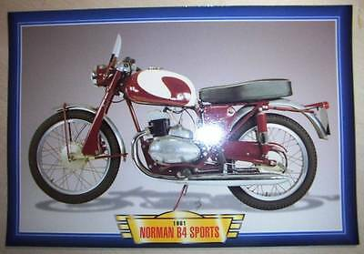 Norman B4 Sports Classic Motorcycle Bike 1960's Picture Print 1961 Villiers