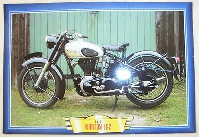 Norton Es2 500 Single Classic Motorcycle Bike 1950's Picture Print 1952