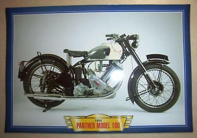 Panther Model 100 600 Vintage Classic Motorcycle Bike 1950's Picture Print 1954