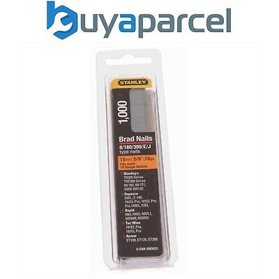 Stanley 0-SWK-BN0625 15mm Brad Nails Pack Of 1000 18 Gauge Type 8 STA0SWKBN062
