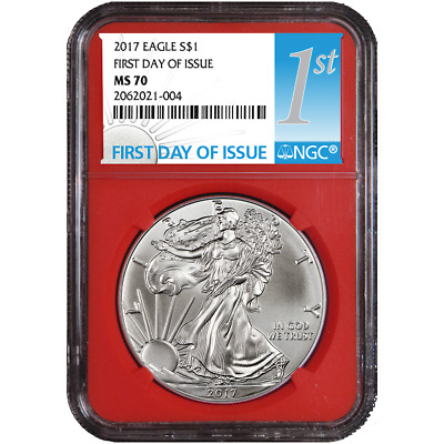 2017 $1 American Silver Eagle NGC MS70 FDI First Label Red Core