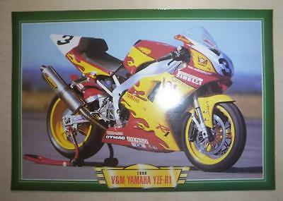 V&m Yamaha Yzf-R1 R 1 Motorcycle Race Bike 1990's Picture 1998 Dave Jefferies