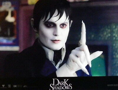 Tim Burton DARK SHADOWS lobby cards 6 original vintage stills 2012 Johnny Depp