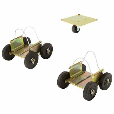 Black Ice Snowmobile Dolly Set All-Terrain Drivable Ski Dollies SMDOLLY