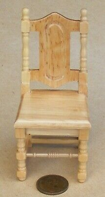1:12 Scale Pine Finish Dining Chair Dolls House Miniature Kitchen Accessory 150