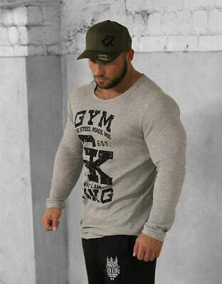 Gym King Long Shaped Thermo Longsleeve Bodybuilding Fitness Pullover