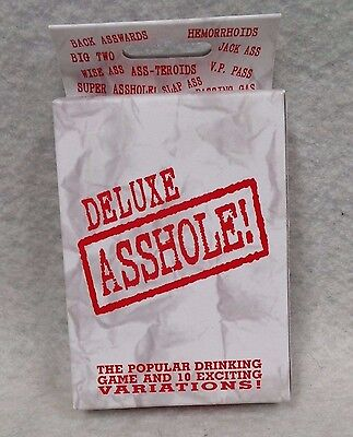 Deluxe A-hole Drinking Playing Cards Card Adult Fun Bar Night Out Novelty Gift