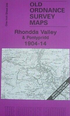 Old Ordnance Survey Maps Rhondda Valley Pontypridd Map Coed Ely Colliery 1904/14