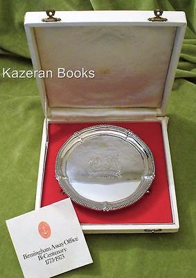 Vintage Limited Edition Sterling Silver Salver Birmingham Assay Centenary 1973