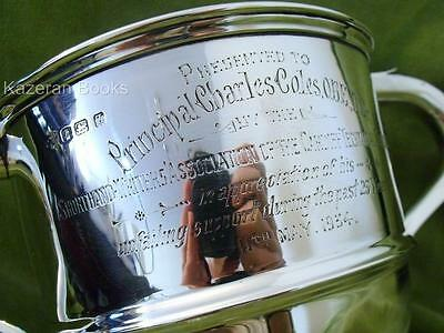 Sterling Silver Trophy Cup Presentation Cardiff Technical College Shorthand 1935