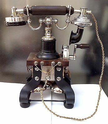 "Original Antique Ericsson Skeletal Desk Telephone ""Eiffel Tower"" VERY RARE!"