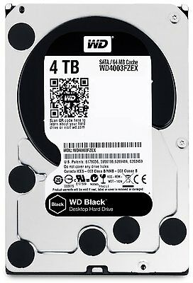 "Western Digital WD Black 3.5"" 7200RPM WD4003FZEX Hard Drive 4TB BRAND NEW SEALED"