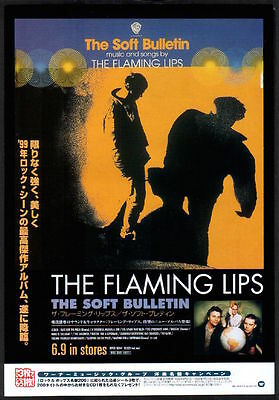 1999 The Flaming Lips Soft Bulletin JAPAN album promo ad /mini poster advert f7r