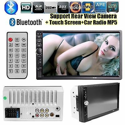 """7"""" HD Touch Screen Double 2DIN Car Stereo Player FM  Bluetooth Radio priorit UK"""