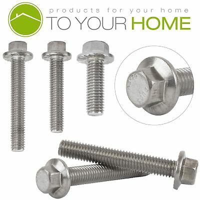 M8 Flanged Hexagon Head Bolts Flange Hex Screws A2 Stainless Steel