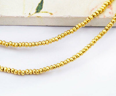 Karen hill tribe 24k Gold  Vermeil Style  150 Solid Seed Beads 1.5 mm.