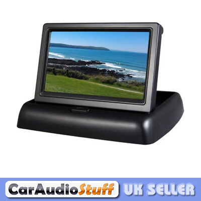 "4.3"" Flip Up or Down Monitor Roof or Dash Mount Reverse Camera Screen"