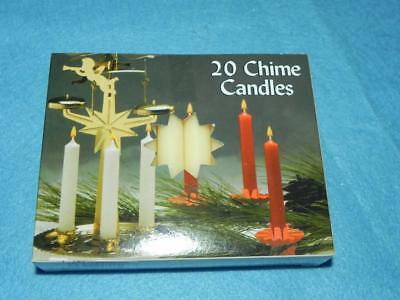 "Christmas Angel Chime Candles, Ivory, Box of 20, NIB, 1/2"" by 4"" tall"