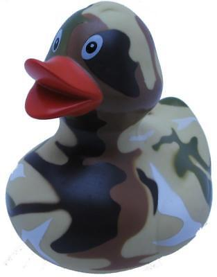 New Large Floating Bath Rubber Designer Duck Fun Gift Army Camouflage Camo Yarto