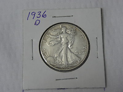 1936 D    Extra Fine   Walking Liberty 1/2 $  .900 Silver