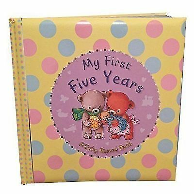 New My First 5 Years Baby Child Record Book Teddy Bears Purple Unisex Padded Spt