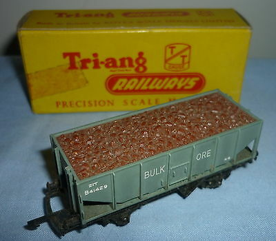 TRIANG TT GAUGE 21T BULK ORE WAGON B41429 with BAUXITE LOAD T271 BOXED