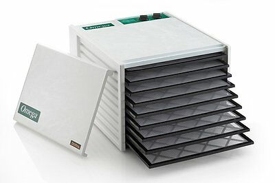 Omega DH9090TW 9 Tray Timer Food Dehydrator White