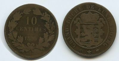 G7725 - Luxemburg 10 Centimes 1855 A BARTH KM#23.2 Guillaume III.1849-1890