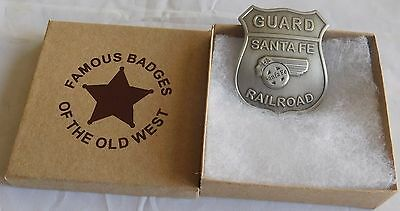 Quality Old West Santa Fe Rail Road Guard Badge ** Made In USA