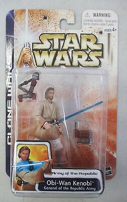 Moc 2003 Star Wars Clone Wars Army Of The Republic Obi-Wan Kenobi Action Figure