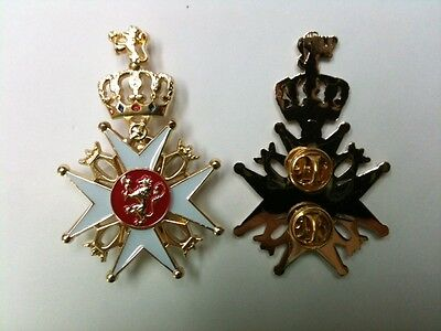 Norway Royal King Order Saint Olaf Olav Medal Service Chivalry Knight Award Pin