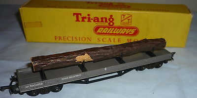 TRIANG TT GAUGE BR 30T BOGIE BOLSTER C B940050 with TIMBER LOAD T277 BOXED