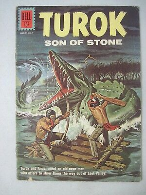 Turok Son Of Stone #27 Dell Comics Indians And Dinosaurs