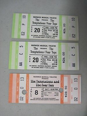 3 Unused The Temptations & The Four Tops Tickets Warwick Musical Theatre Ri