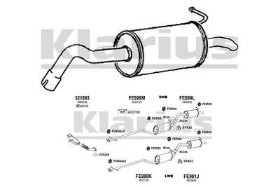 Fits Ford Transit Connect 1.8 Di EEC Exhaust Pipe Back Box End Rear Silencer
