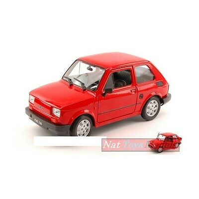 Welly WE4066R Fiat 126 1973 RED 1:24 MODELLINO DIE CAST MODEL