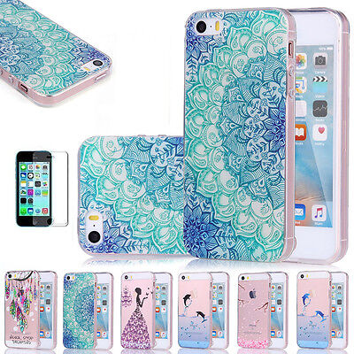 For Apple iPhone SE / 5s 5 Case Silicone Clear Shockproof Rubber Protective TPU