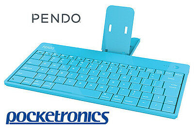 Pendo Bluetooth Keyboard Blue lightweight for Android Tablet PC Apple iPad NEW