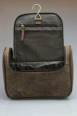 Leather Toiletry bags to the hang, Wash Bag, Toiletry bag, bag Beauty Case