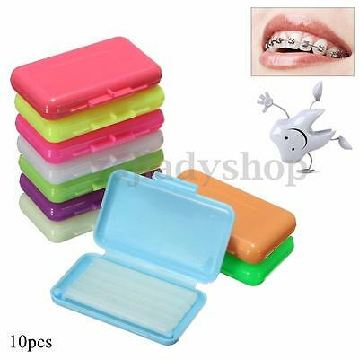 100pcs / 10 Boxs Dentist Dental Orthodontics Ortho Wax For Braces gum irritation