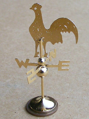 1:12 Scale Dolls House Metal 0ne Piece Cockerel Weather Vane Miniature Accessory