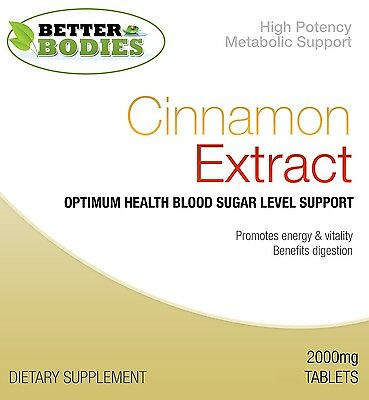 Better Bodies Cinnamon 2000mg Tablets High Quality