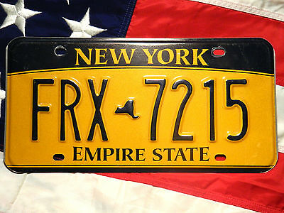 NEW YORK license licence plate plates USA NUMBER AMERICAN REGISTRATION