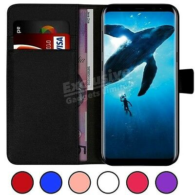 Case Cover Fr Samsung Galaxy S9+ S8 S7 Magnetic Flip Leather Wallet Card Holder