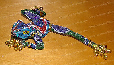 All Legs! Bejeweled Purple FROG Figurine (by Kubla Crafts, 1381)