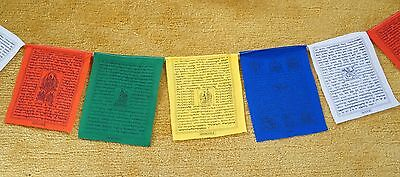 Tibetan Buddhist Prayer Flags/ Lungta/ WindHorse - Set of 50, size:  Large
