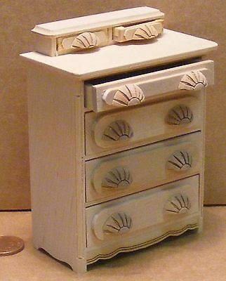 1:12th Scale Chest Of Six Drawers Dolls House Miniature Bedroom Accessory 168