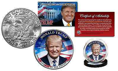 DONALD TRUMP 45th President Official Legal Tender IKE EISENHOWER One Dollar Coin